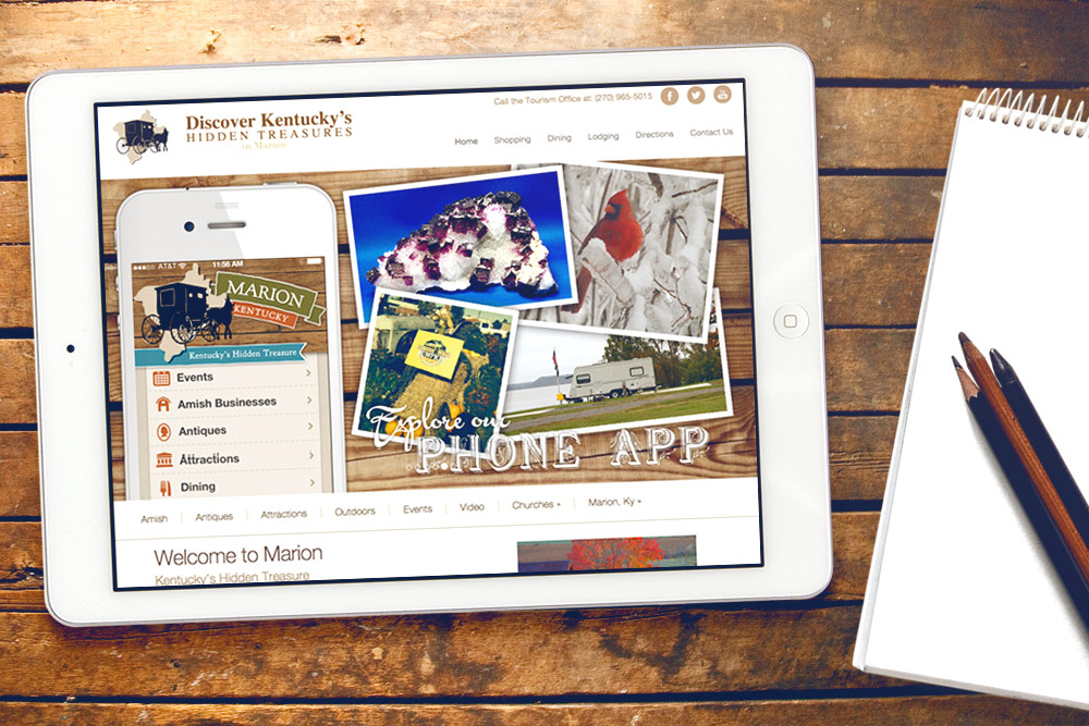 Marion Tourism Website Design