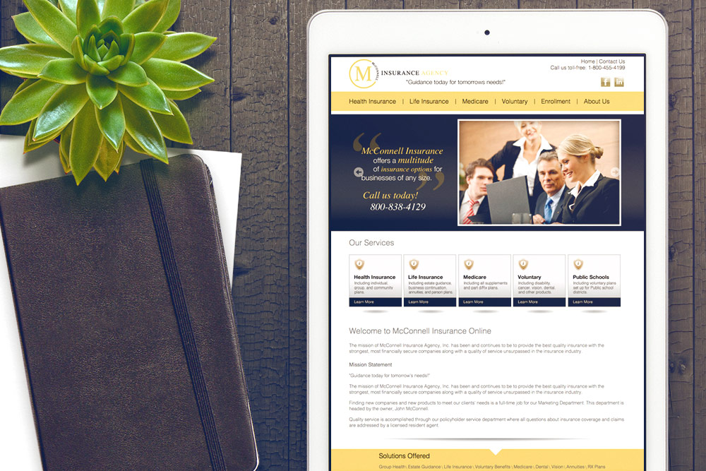 McConnel Insurance Website Design