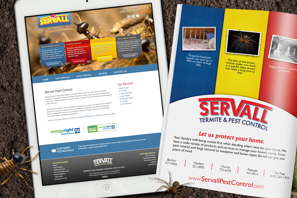 Servall Pest Control Website Design